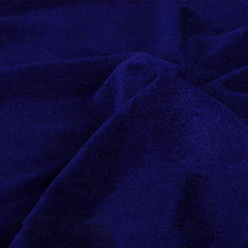 Dami Soft Velvet Fabric Upholstery Dressmaking Curtain Blind Cushion Craft Velour Material 160 cm Wide Sold by The Meter(Color:Royal Blue)