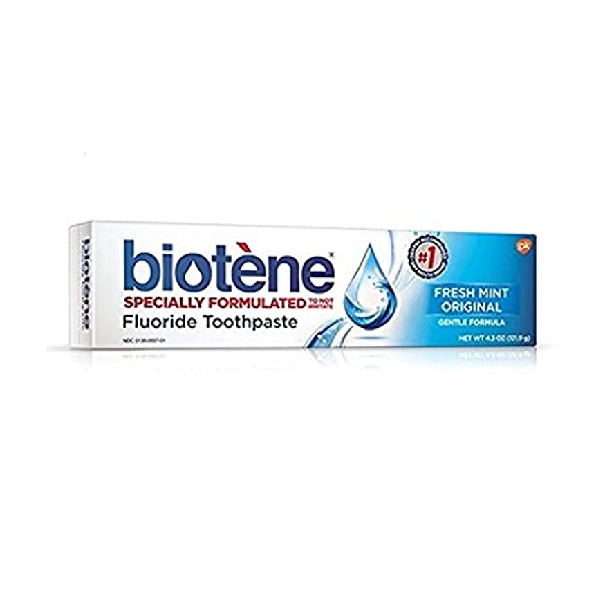 重力節約行方不明Biotene Dry Mouth Fluoride Toothpaste Fresh Mint Original 4.3 Oz. (2 Pack) by Biotene