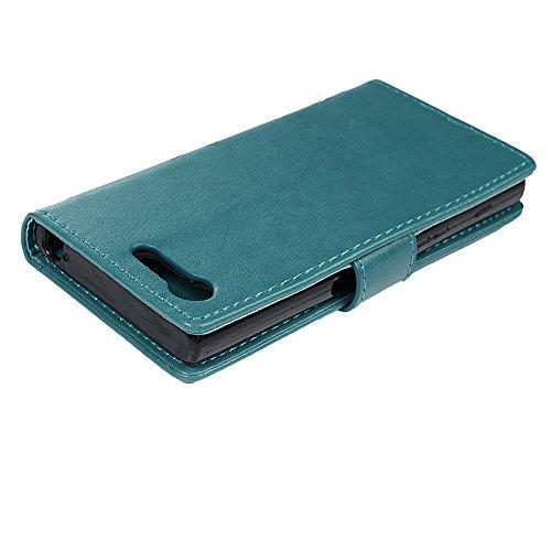 Sony Xperia X Compact Lederhülle, Flipcase, Blau - 4
