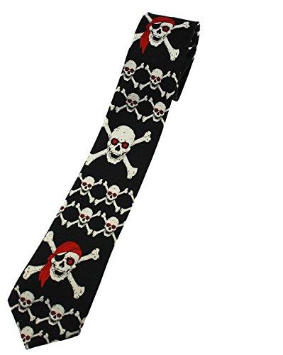 ZAC de Alter Ego® Pirate Tête de mort et tête de mort et tibias on Black Tie