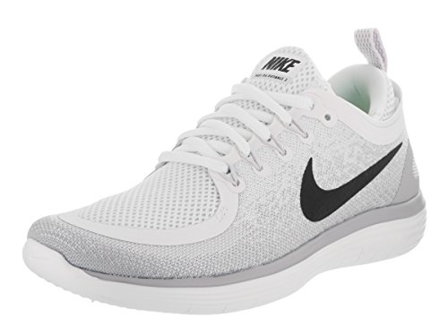 Nike Womens Free RN Distance 2 Running Shoes (8.5, White/Grey-M)