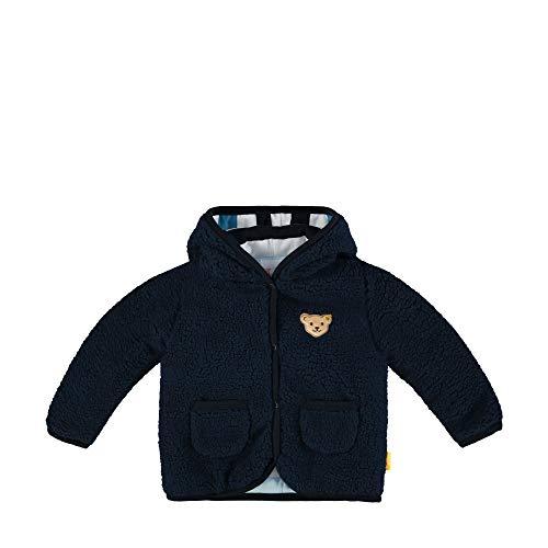 Steiff Jungen Fleecejacke Jacke, Blau (Black Iris 3032), 68 (Herstellergröße: 068)