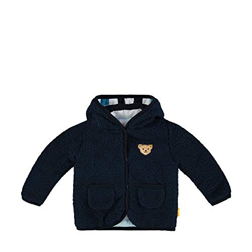 Steiff Jungen Fleecejacke Jacke, Blau (Black Iris 3032), 50 (Herstellergröße: 050)