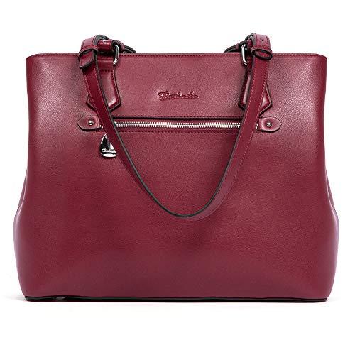 Bostenten Damen-Handtasche, echtes Leder, Schultertasche, weich, Designer-Handtasche mit Griff oben