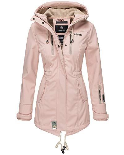 Marikoo Damen Softshell Jacke Winter Jacke Regenjacke Parka Kapuze ZMTZ (S, Rosa)