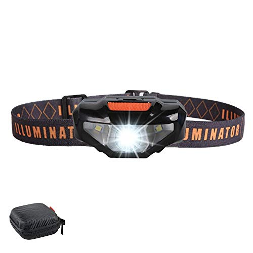 LED Headlamp Flashlight with Carrying Case,Father 's Day Gift,COSOOS Head Lamp,Waterproof Running Headlamp,Bright Headlight for Adults,Kids,Camping,Jogging,Reading,Runner,Only 1.6oz/48g(NO AA Battery)