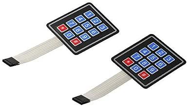 FlashTree (Pack of 2) 3 x 4 Matrix Array 12 Key Membrane Switch Keypad Keyboard for Arduino AVR PIC