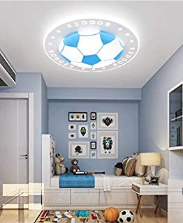 LITFAD Soccer-Patterned Dimmable LED Ceiling Light 20.5