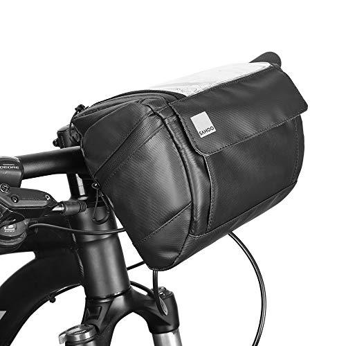 docooler 3L Borsa per Manubrio da Bicicletta con Copertura Touch Screen 20 * 12 * 16cm, Tasca Frontale per Tubo Multifunzione Portatile Borse a Tracolla per Il Ciclismo MTB Biciclette Pieghevoli