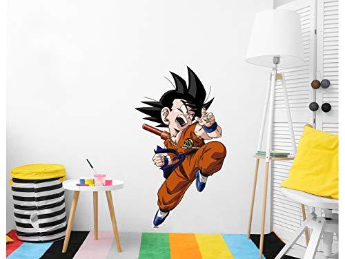 Vinilo de Pared Tamaño Real Dragon Ball Classic Goku Producto Oficial   85x150 cm  Vinilo...