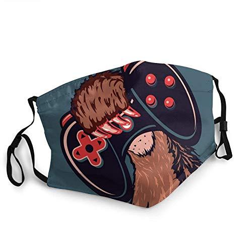 Mascarillas faciales transpirables pata de oso sostiene la máquina de juego unisex gorro bucal al aire libre deportes entrenamiento cuello Polaina 1 unids negro