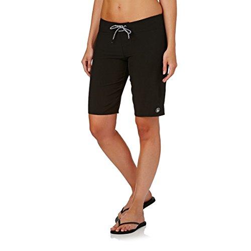 Volcom Women's Simply Solid Classic Swim Boardshort, Black 11 Inch