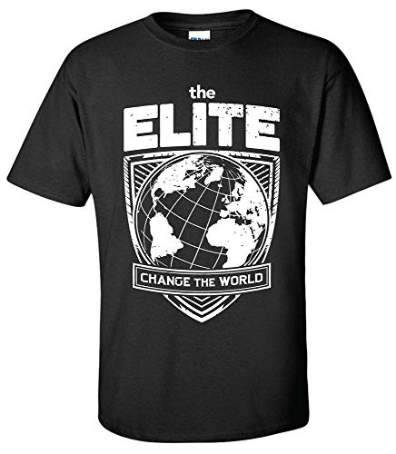 SHUIA Elite Change The World T-Shirt -XS-5XL Kenny Omega Young Bucks AEW All Wrestling
