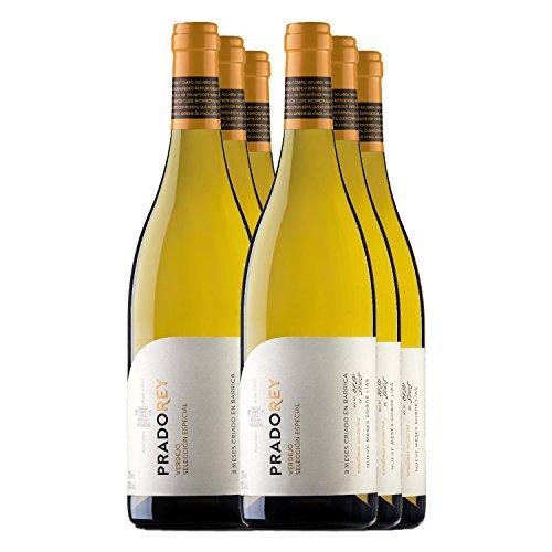 PRADOREY Verdejo Selección Especial - Vino blanco - Verdejo - Vino de la tierra de Catilla y León - 9 meses de crianza sobre lías con paso ligero por barrica - - 6 Botellas - 0,75 L