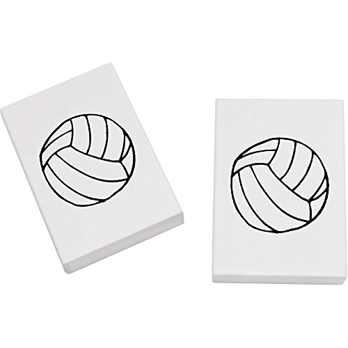 Azeeda 2 x 45mm 'Volleyball' Radiergummis (ER00006303)