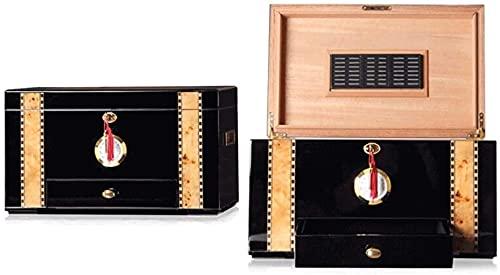 PANGPANGDEDIAN Cedar Forro de Madera Higrómetro de Gran Capacidad y humidificador Caja de Madera Maciza Cubana Caja Decorativa