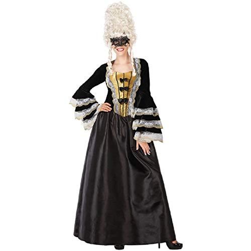 Atosa 55924 - Costume da cortigiana vittoriana da donna XS-S, colore: Nero
