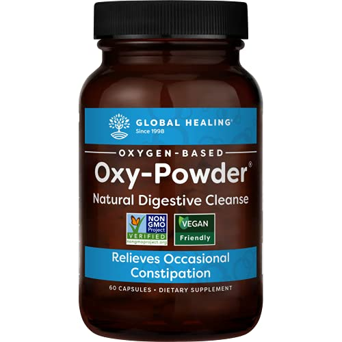 Global Healing Center Oxy-Powder Oxygen Based Safe and Natural Colon Cleanser and Relief from Occasional Constipation (60 Capsules)