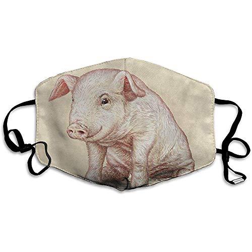 Herbruikbare Mond Maskers Anti-stof, Huishoudelijke Varken Winddichte Gezichtsmasker Cover