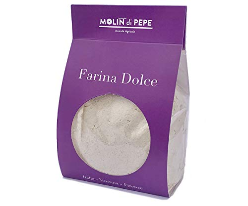 Molin di Pepe - Farina di Marroni   essicazione castagne tradizionale e macinata a pietra   ricca di profumi e sapore intenso, Energetica, senza glutiner   350 gr