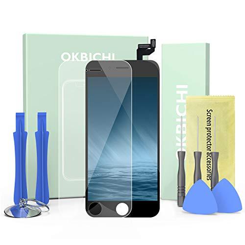 """OKBICHI Nero Display Screen Digitizer per iPhone 6s (4,7"""") Schermo LCD Touch Schermo Kit Smontaggio Trasformazione Completo di Ricambio Utensili Inclusi"""