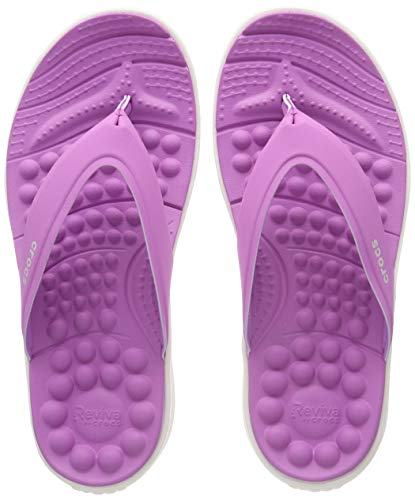 Crocs Damen Reviva Flip W Dusch- & Badeschuhe, Violett (Violet/White 592.), 38/39 EU