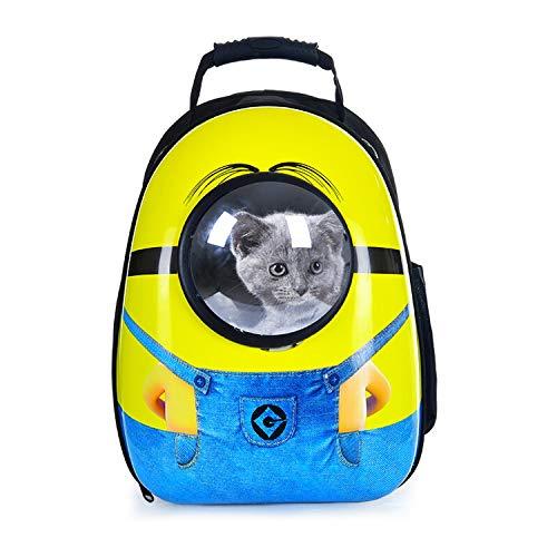 Reistas voor huisdieren, draagbaar, voor katten, honden, ademend, voor huisdieren, geel