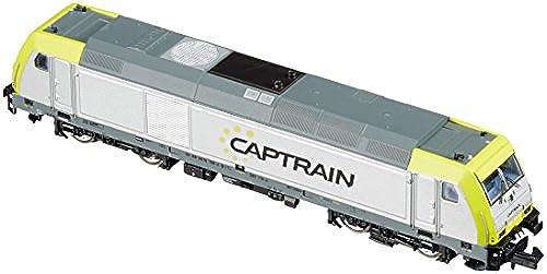 Arnold HN2413 Diesellokomotive Baureihe Captrain, BR 285.1, Epoche VI Modellbahn, Grau Grün