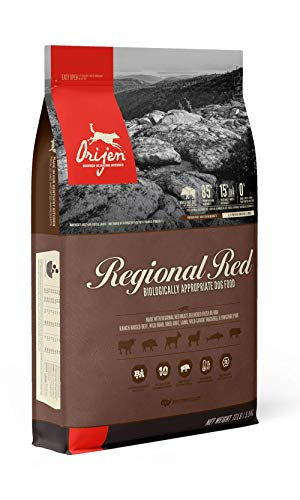 ORIJEN Dry Dog Food for All Breeds, Regional Red, Grain Free & Chicken Free, High Protein, Fresh & Raw Animal Ingredients, 13lb