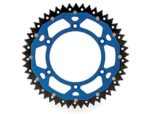 Art Couronne Bi-Composants 50 Dents Aluminium/Acier Ultra-Light Anti-Boue Pas 520 Type 897 Bleu