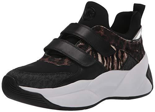 Michael Kors Damen Sneakers 43F9KEFS1H Keeley Leder Fabric Schwarz