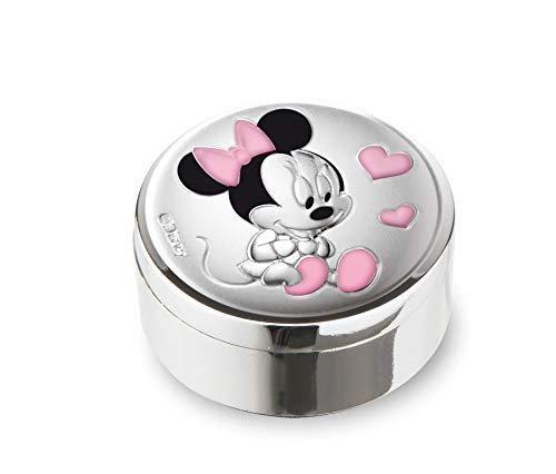 Disney Baby - Valenti&Co - Scatola Porta Dentini di Minnie Topolino in Argento ideata come Scatola dei Ricordi per i Denti da Latte della Bambina