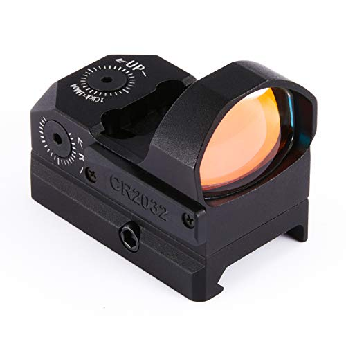 Pinty Pro 3.5 MOA Red Dot Sight with Built-in Picatinny Weaver Rail Mini Red Dot Reflex Sight w Multicoated Lenses