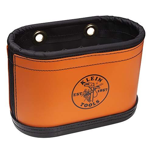 Klein Tools 5144bhb 15-pocket N ° 6 sur toile ovale d'antenne Seau avec enrouleur de PVC Orange sans crochets