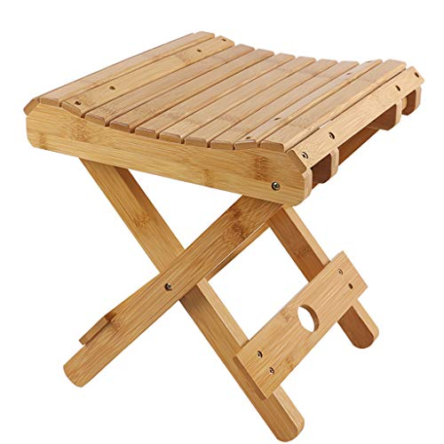 Wooden folding stool Tabouret Pliant Portable Home Outdoor Pêche Petit Banc
