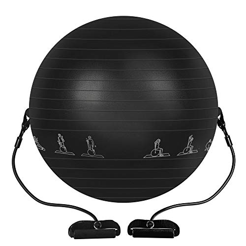 PACEARTH Exercise Ball, 65cm Thick Yoga Ball Chair,Anti-Slip Stability Ball,Birthing Ball with Quick Pump