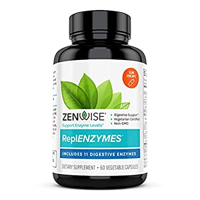 Zenwise Daily Digestive Enzymes - Support to Conquer Tough Foods - Gut Health Supplement with Bromelain, Lactase, Amylase & Lipase for Digestion - Certified Vegetarian -125 Slim Capsules