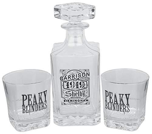 GB Eye - Decantador y Copas Whisky para Adulto, Unisex, Transparente, 75 cl, Color Transparente