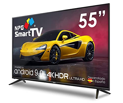 Televisor 55' LED 4K UHD NPG Smart TV Android 9.0 WiFi, PVR, Screen Mirroring, Quad Core