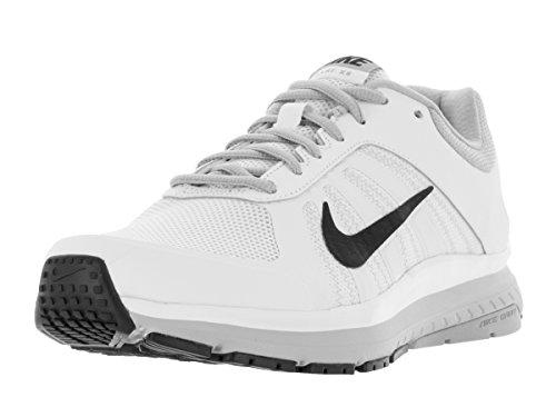 Nike Men's Dart 12 White/Black/Wolf Grey Running Shoe 10.5
