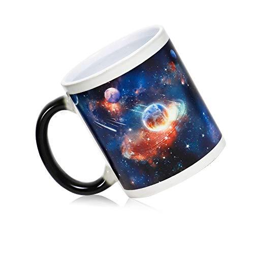 IGZOM Thermoeffekt Farbwechsel Tasse, Lustige Geschenk für Frauen/Männer/Beste Freundin, Astronomie-Enthusiasten Geschenke