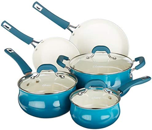 Oster Corbett Forged Aluminum Cookware Set With Ceramic Non stick Induction Base Soft Touch product image