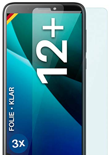moex Klare Schutzfolie kompatibel mit HTC Desire 12 Plus - Displayfolie kristallklar, HD Displayschutz, dünne Kratzfeste Folie, 3X Stück