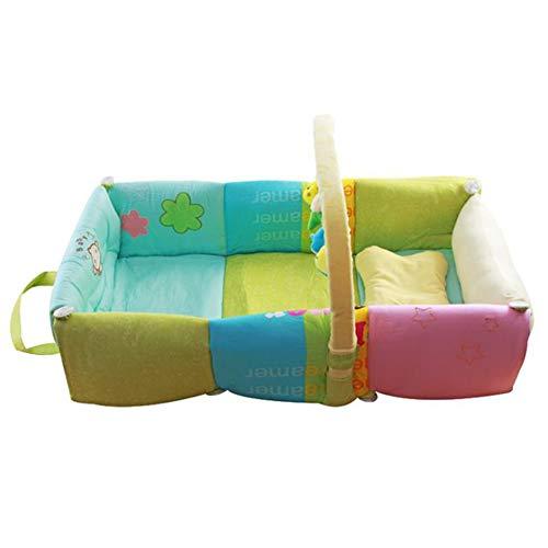 Y-nest Babywiege Kinderbett, Reisebett, 100% Baumwolle, Antiallergisch, Herausnehmbarer Einsatz,100% Baumwolle Nestchen Reisebett Für Babys Säuglinge