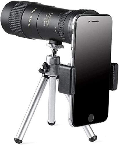 HLSH Telescopio Monoculares Mini binoculares 8-40X40 Telescopio de visión Nocturna de Gran Aumento se Puede conectar a un trípode Exquisito Adecuado