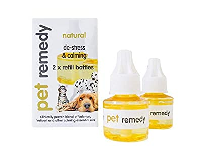 Pet Remedy Natural De-Stress and Calming Refill Pack, 40 ml, Pack of 2 by Pet Remedy