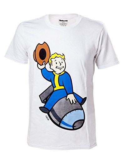 Fallout 4 T-Shirt -2XL- Boy Bomber, weiss