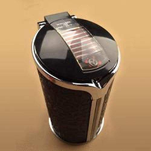 AMITD LED verlichte ronde auto-schaal sigaretten-asbak met deksel draagbare autohouder