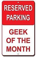 警告サインインチ、今月の予約駐車オタク、ハザードサインあなたのステップを見てください鉄のポスター絵画ティンサインカフェバーパブホームビール装飾工芸品のヴィンテージの壁の装飾