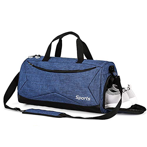 TOBWOLF sporttas, middelste reis-zeeszak met schoenenvak, apart, droge, natte tas, lichtgewicht